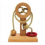 Dtoys-62581-12 Chinesisches Holzpuzzle - IQ Games - Basic 12 - Schwierigkeit 3/5