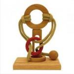 Dtoys-62598-13 Chinesisches Holzpuzzle - IQ Games - Basic 13 - Schwierigkeit 3/5