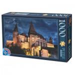 Puzzle  Dtoys-63038-MN13 Burg Hunedoara bei Nacht, Rumänien