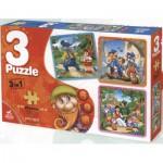 Puzzle  Dtoys-63717-BA-01 Märchen und Legenden: Rotkäppchen, Pinocchio, Schneewittchen und die 7 Zwerge