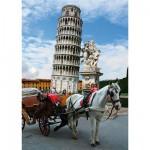 Puzzle  DToys-64288-FP03 Italien - Der schiefe Turm von Pisa