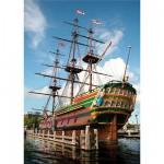 Puzzle  DToys-64288-FP04 Niederlande - Amsterdamer Hafen