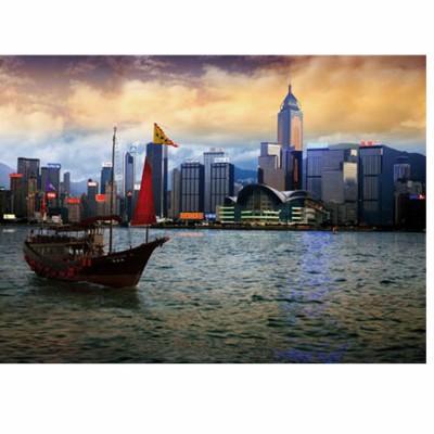 Puzzle DToys-64301-NL05 Bei Nacht - Bucht von Hongkong