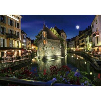 Puzzle DToys-64301-NL06 Bei Nacht - Frankreich: Annecy