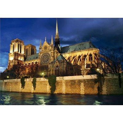 Puzzle DToys-64301-NL08 Bei Nacht - Frankreich, Paris: Notre Dame de Paris