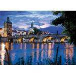 Puzzle  DToys-64301-NL09 Bei Nacht - Tschechien: Prag