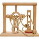 Dtoys-64349-03 Chinesisches Holzpuzzle - IQ Games - Evolution 4 - Schwierigkeit 5/5