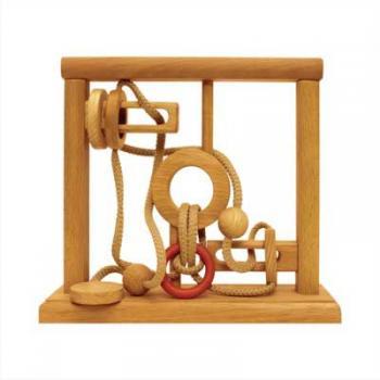 Dtoys-64363-01 Chinesisches Holzpuzzle - IQ Games - Evolution 1 - Schwierigkeit 4/5
