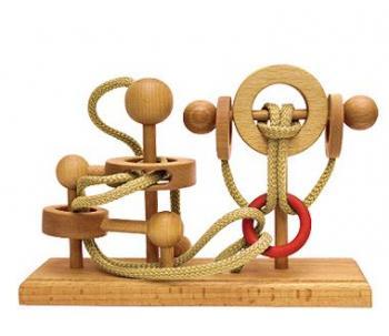 Dtoys-64370-12 Chinesisches Holzpuzzle - IQ Games - Expert 12 - Schwierigkeit 4/5