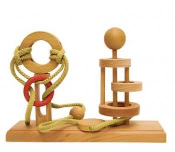 Dtoys-64394-10 Chinesisches Holzpuzzle - IQ Games - Expert 10 - Schwierigkeit 4/5