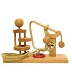 Dtoys-64400-09 Chinesisches Holzpuzzle - IQ Games - Expert 9 - Schwierigkeit 5/5