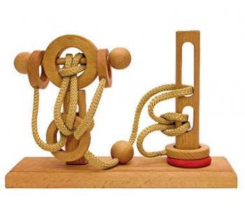 Dtoys-64424-07 Chinesisches Holzpuzzle - IQ Games - Expert 7 - Schwierigkeit 4/5