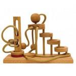 Dtoys-64431-06 Chinesisches Holzpuzzle - IQ Games - Expert 6 - Schwierigkeit 5/5