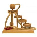 Dtoys-64448-06 Chinesisches Holzpuzzle - IQ Games - Maxi 6 - Schwierigkeit 5/5