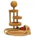 Dtoys-64455-18 Chinesisches Holzpuzzle - IQ Games - Basic 18 - Schwierigkeit 3/5