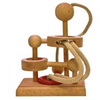 Dtoys-64462-19 Chinesisches Holzpuzzle - IQ Games - Basic 19 - Schwierigkeit 3/5