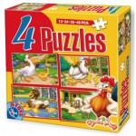 Puzzle  Dtoys-64585-AD-01 Hühner, Gänse, Enten und Schafe