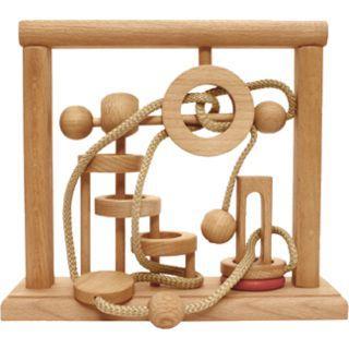 Dtoys-64646-06 Chinesisches Holzpuzzle - IQ Games - Evolution 6 - Schwierigkeit 5/5