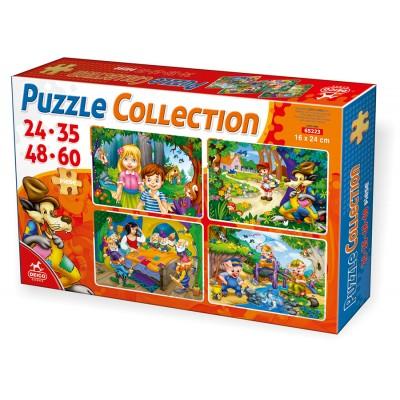 Puzzle Dtoys-65223-PC-01 Märchen und Legenden: Hänsel und Gretel, Rotkäppchen, Die 7 Zwerge, Die 3 kleinen Schweinchen