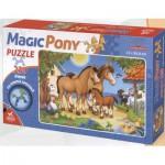 Dtoys-65230-MP-01 Pferdefamilie: Puzzleteile in Pferdeform