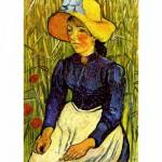 Puzzle  DToys-66916-VG07 Van Gogh: Frau mit Strohhut
