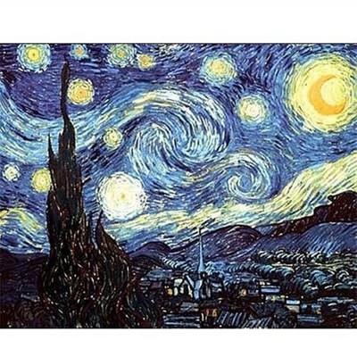 Puzzle DToys-66916-VG08 Van Gogh: Sternennacht