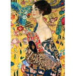 Puzzle  DToys-66923-KL03 Gustav Klimt: Frau mit Fächer