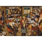 Puzzle  Dtoys-66947-BR-06 Brueghel Pieter der Jüngere: Bezahlung des Zehnten, 1617-1622
