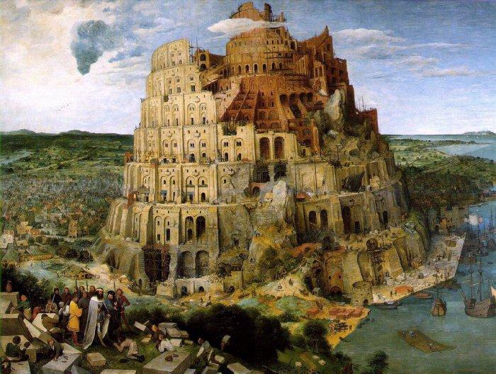 Puzzle DToys-66947-BR05 Brueghel: Der Turm zu Babel