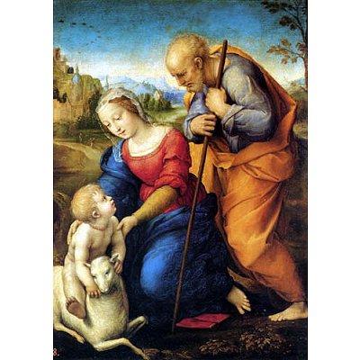 Puzzle DToys-66954-RN02 Raphael: Die heilige Familie mit dem Lamm