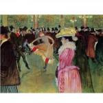 DToys-66978-TL01 Toulouse-Lautrec: Danse au Moulin Rouge / schwieriges Puzzle