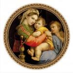 Puzzle  DToys-66985-TM03 Botticelli: Madonna della Seggiola