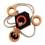 Dtoys-67005-01 Chinesisches Holzpuzzle - Draculas Knoten 2 - Schwierigkeit 2/5