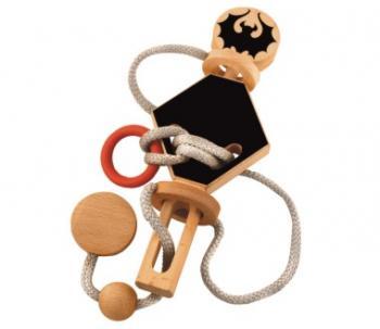 Dtoys-67029-01 Chinesisches Holzpuzzle - Draculas Knoten 3 - Schwierigkeit 3/5