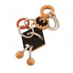 Dtoys-67036-01 Chinesisches Holzpuzzle - Draculas Knoten 4 - Schwierigkeit 2/5