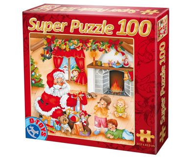 Puzzle Dtoys-67333-XM-01 Der Weihnachtsmann und die Kinder