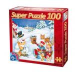 Puzzle  Dtoys-67333-XM-03 Der Schneemann