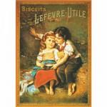 Puzzle  DToys-67555-VP03 Vintage Posters: Biscuits Lefevre-Utile