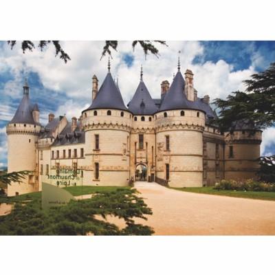 Puzzle DToys-67562-FC02 Französisches Schloss: Château de Chaumont