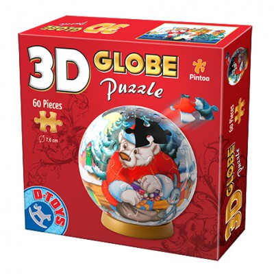 3d globus puzzle weihnachten 60 teile dtoys puzzle. Black Bedroom Furniture Sets. Home Design Ideas