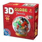 Dtoys-67609-GP-04 3D Globus Puzzle - Wir lieben den Weihnachtsmann