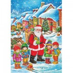 Puzzle  DToys-67623-CH02 Christmas Collection: Danke, lieber Weihnachtsmann