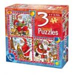 Dtoys-67630-CH-01 Weihnachtsgeschichten: 3 Weihnachtspuzzle