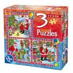 Dtoys-67630-CH-02 Weihnachtsgeschichten: 3 Weihnachtspuzzle