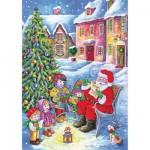 Puzzle  DToys-67647-CH01 Christmas Collection: Treffen mit dem Weihnachtsmann