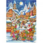 Puzzle  DToys-67647-CH02 Christmas Collection: Mit dem Schlitten unterwegs