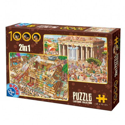 Puzzle Dtoys-67760-CC-01 Humor: Antikes Griechenland