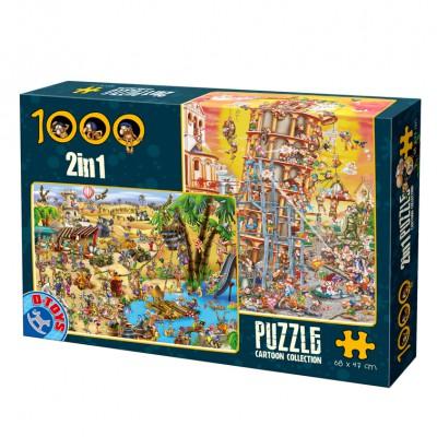 Puzzle Dtoys-67760-CC-03 Humor: Der schiefe Turm von Pisa