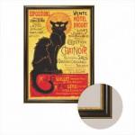 Dtoys-68217-AP-04 Leinwand mit Rahmen - Sie schwarze Katze