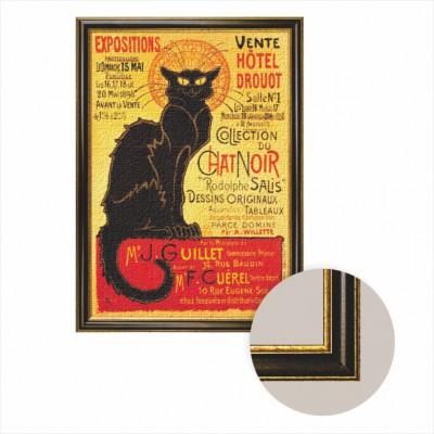 Puzzle Dtoys-68217-AP-04 Leinwand mit Rahmen - Sie schwarze Katze